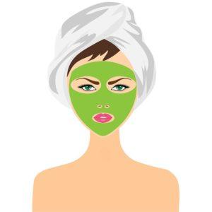 Maske gegen fettige Gesichtshaut